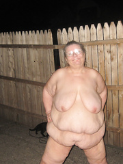 Showing off out side at home hope you like mature bbw naked outdoors