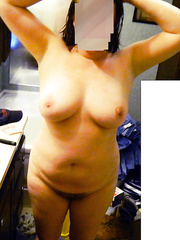 Hey everyone here are some pictures of my naked wife big tits