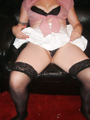 My first time dressing up for my hubby cucumber inserted for play