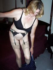 Kathie slut mature amateur housewife from New Jersey wearing lingerie