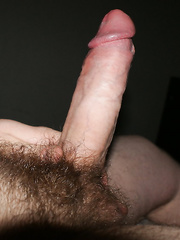 My erect penis in all its glory before sex we were both very horny