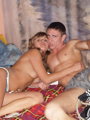 Just some sexy swinger friends having fun at home hot blonde babe