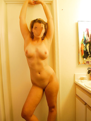 Big titty blonde slut loves to pose and show off her sexy nude body