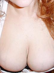 My chubby redhead friend posing foot job big boobs and ass