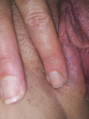 Stretching my wet cunt close up pussy picture and wife in bath
