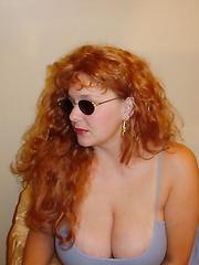 My chubby redhead friend posing foot job big boobs on display