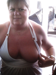MY WIFES TITS IN PUBLIC JUST A FEW PICS OF HER FLASHING