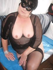 ich bin dauergeil bbw black lingerie see through top