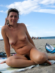Beautiful Sylvie Spends a Day at the Beach