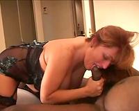 Nice creampie for cuckold – interracial porn movie scene