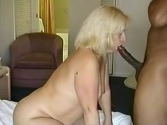Blond wench in interracial sex scene