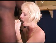 Wife drilled on the table – interracial porn