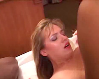 Amazing blond with blacks!  interracial Cuckold Sex Episode