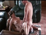 Cuckold husband shares cum eating