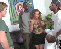 Submissive cuckold husband creampie eating-interracial sex