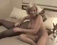 Interracial Cuckold Porn! Hot lady with new black lover