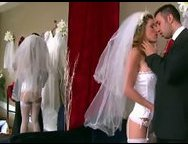Cuckold fantasies! Pretty Bride Gets Fucked Hard By Wedding  Shop Owner