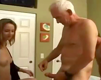 Amateur cuckold sex! Husband and Wife Fuck the Gardener