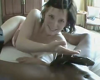 Cuckold Videos! Cum greedy white woman gobbles black dick