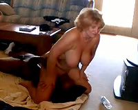 Big white mom titties meet black dick! Amateur Cuckold Interracial Porn