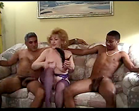 Interracial cuckold porn! Mature Slut Wife Gets The Dust Knocked Out