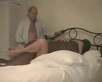 Sissy Husband Watches His Cuckold Wife Fucking A BBC
