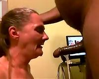 Wife Pro Deepthroat Blowjob!  Amateur Interracial Porn