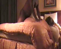 Cheating fat wife fuck at motel! interracial se