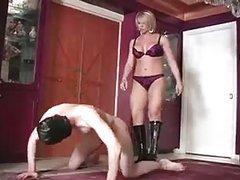 Slutty Wife and Cruel ballbusting femdom