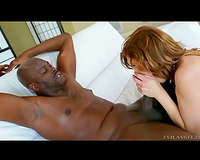 Lingerie on Brooklyn Lee during interracial fuck