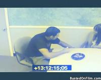 He receives sexy head in the office break room