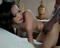 Asa Akira anal sex with a dark guy