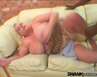White fatty laid by a large dark penis