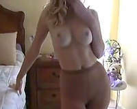 Elegant and busty slutwife blows me and takes worthy facial