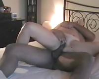 Interracial homemade movie scene with me and my husband making love