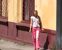 The pissing experience of a Russian blond dilettante housewife