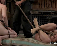 Horny thraldom slavemaster knows how to punish his serf