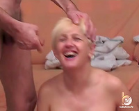 Huge tittied blond floozy is fucking insatiable when it comes to sex