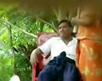 Hidden cam episode with an exotic slut riding a jock outdoors