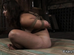 Orgasm longing lesbian babes acquire completely dominated in this BDSM scene
