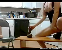 Naughty brunette hair pippin in mask red her much loved sex-toy