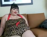 Big and naughty white big beautiful woman girlfriend modelling on web camera