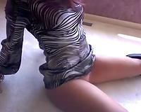 Big Latina gazoo of my Brazilian girlfriend on homemade clip
