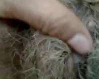 Old and naughty unshaved muff filmed on POV homemade episode