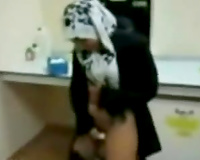 Shameless Indonesian maid can't live without when I gangbang her from behind
