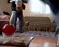 Arabic white women is drilled by neighbour spy livecam movie