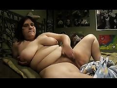 Webcam cunt-fingering scene with an obese brunette hair
