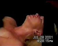Blonde milf receives her cum-hole properly drilled and creampied by me