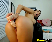Sexy Brazilian with Perfect Ass Masturbating