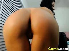 Sexy Brazilian with Perfect Ass Masturbating